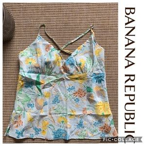 Banana Republic Tank Top Blouse 100% Silk xLarge
